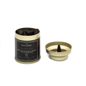 luxury incense conees. charcoal incense cones in tuscan leather scent. Manly fragrances. Mens lifestyle gift,
