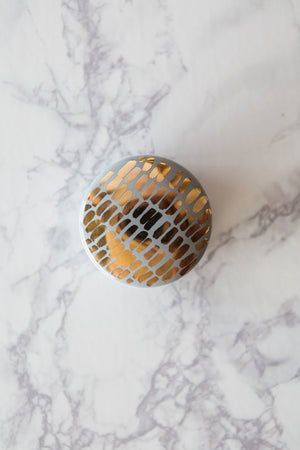 Gray & Gold Jewelry Box - The Object Enthusiast