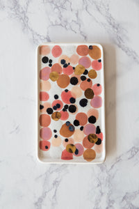Pink Spotted Tray - The Object Enthusiast