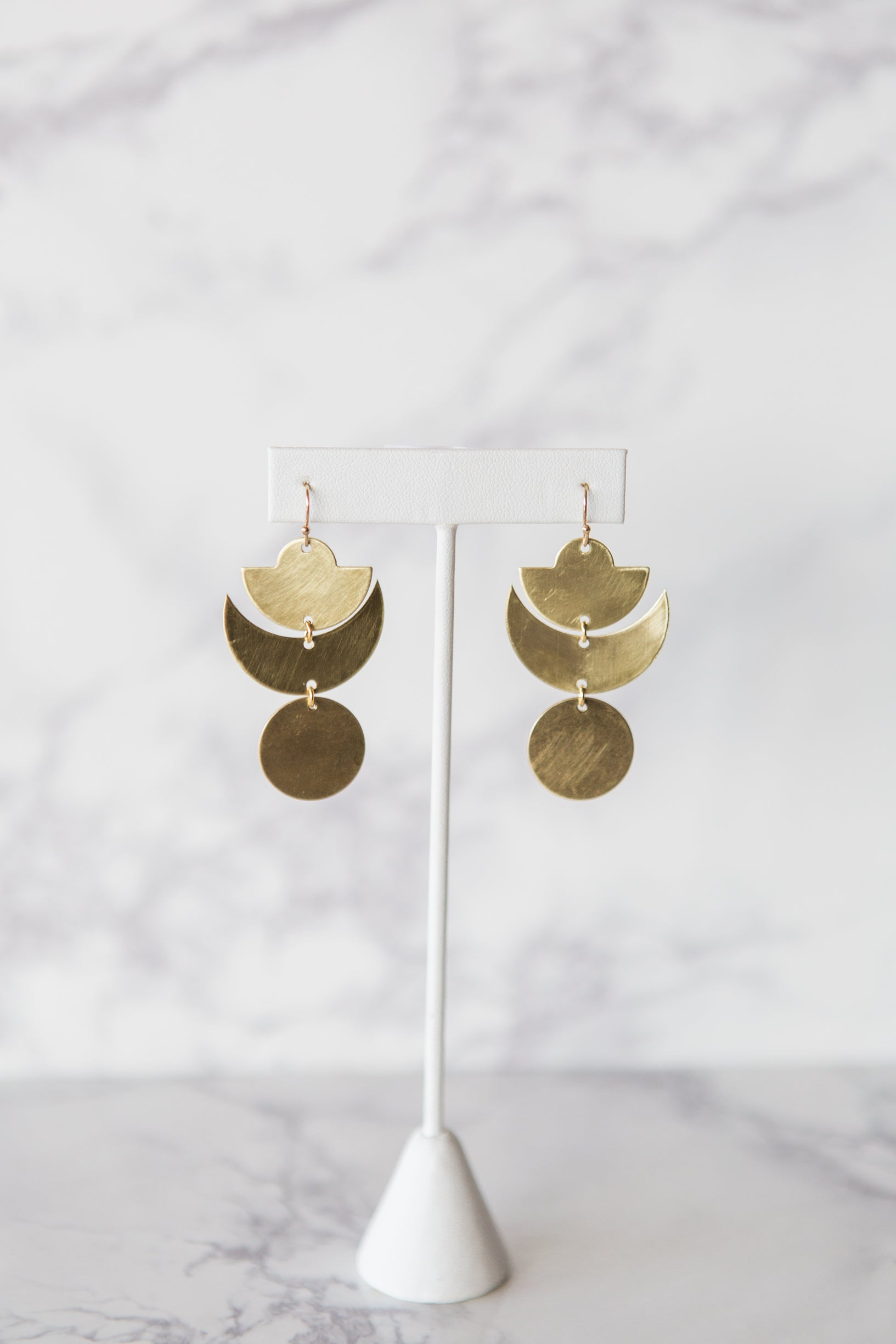 Moon Phase Dangle Earrings - M Street Studio