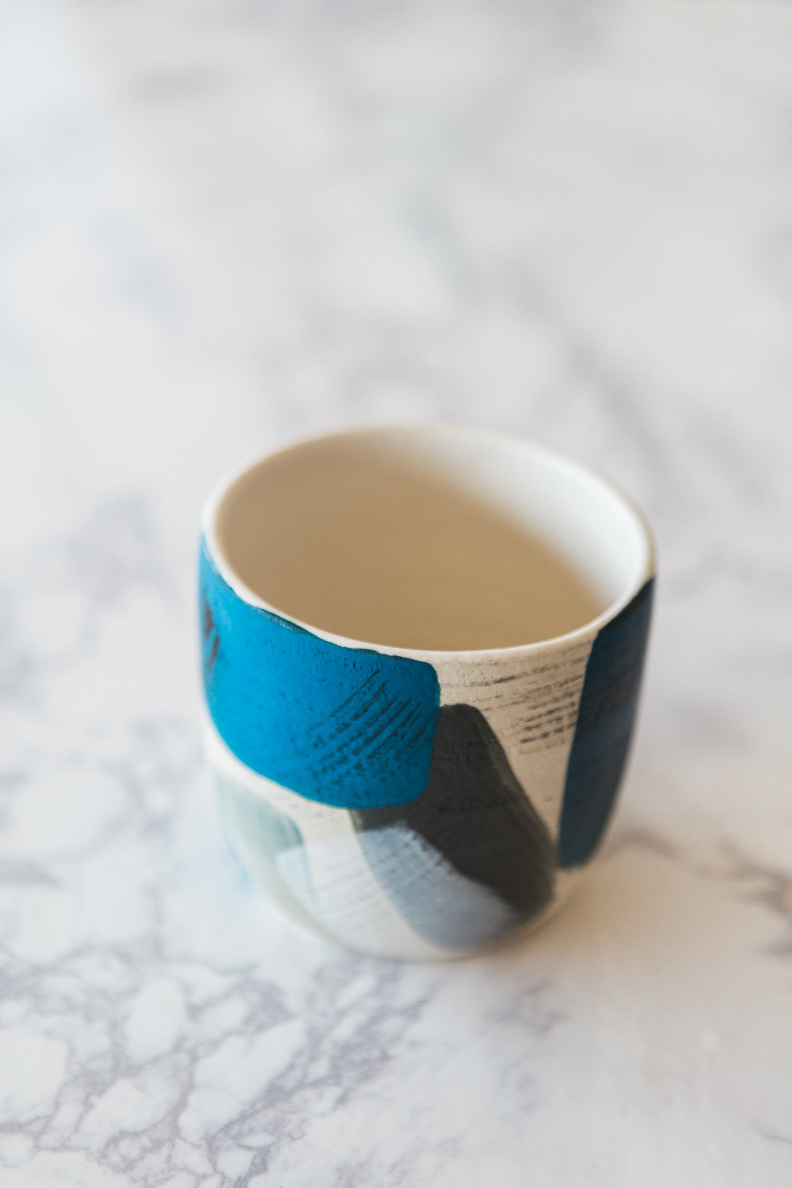 Blue Melangé Cup - Black Mountain Ceramic