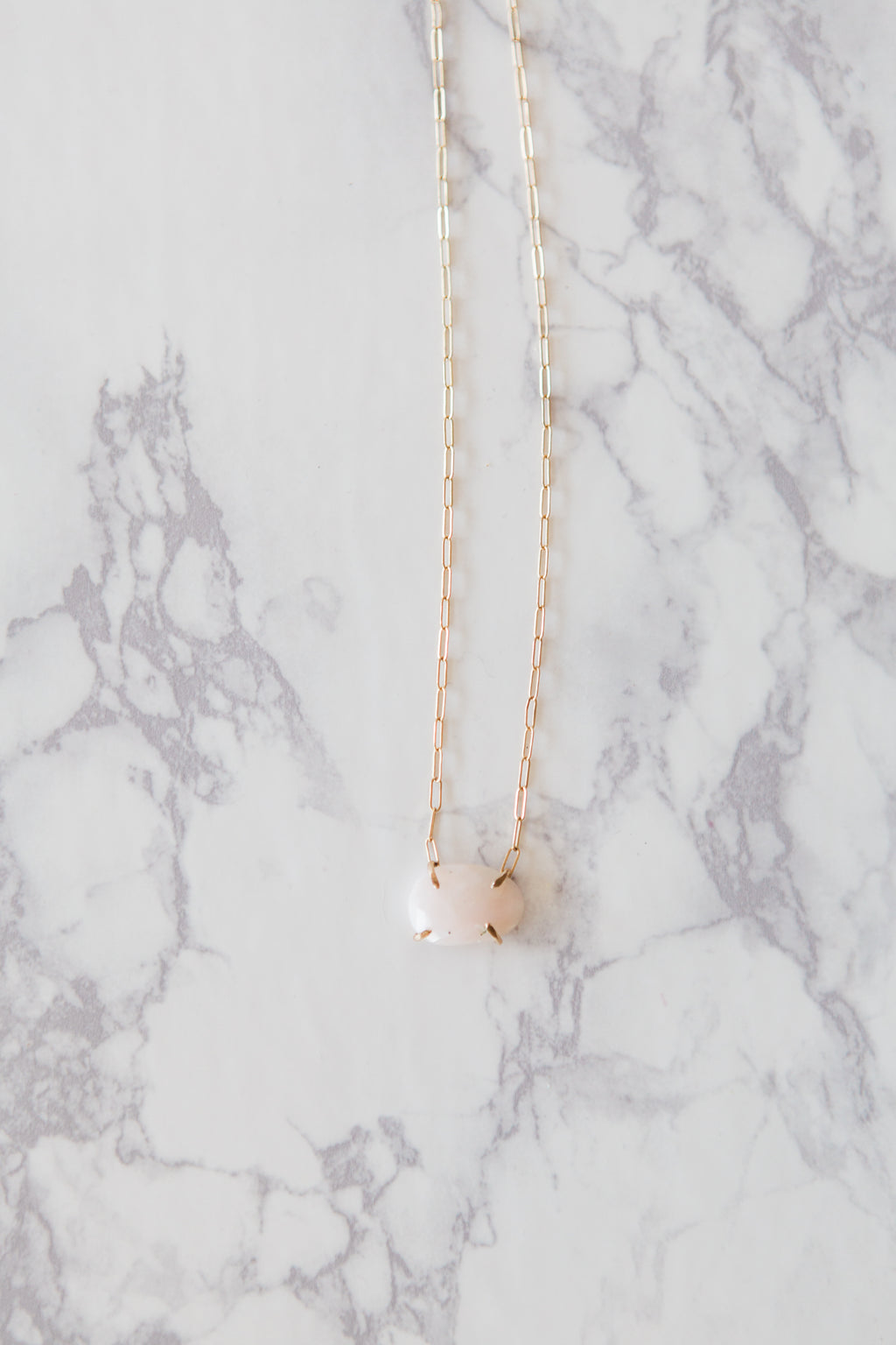 Delicate Rose & Gold Necklace - M Street Studio