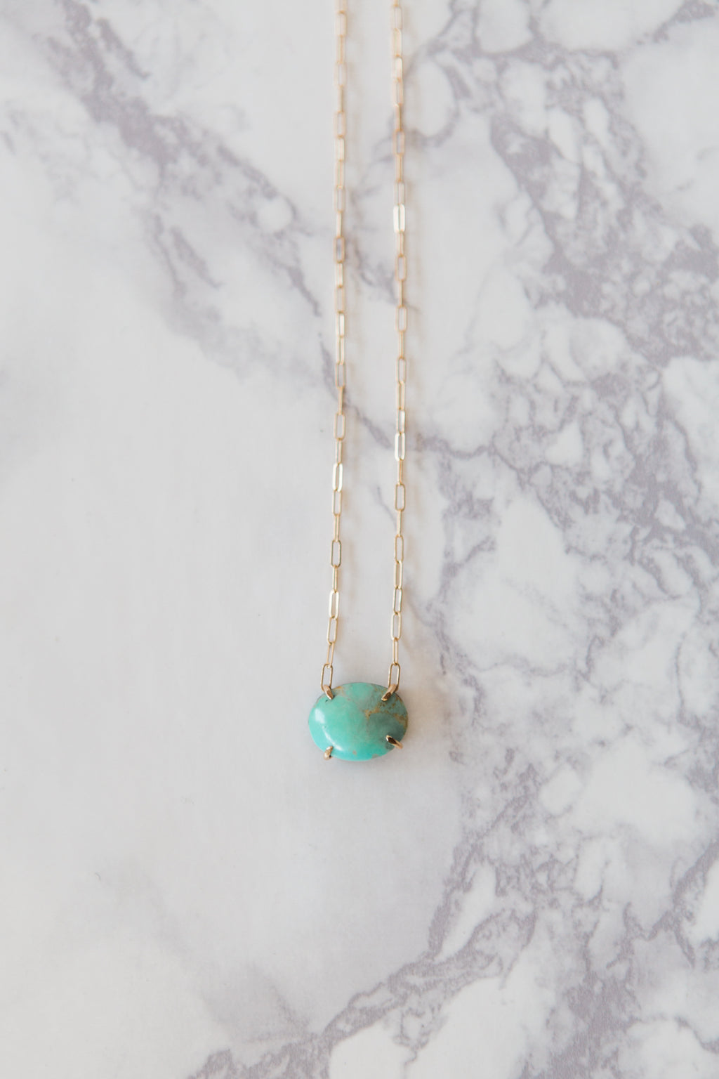 Delicate Turquoise & Gold Necklace - M Street Studio