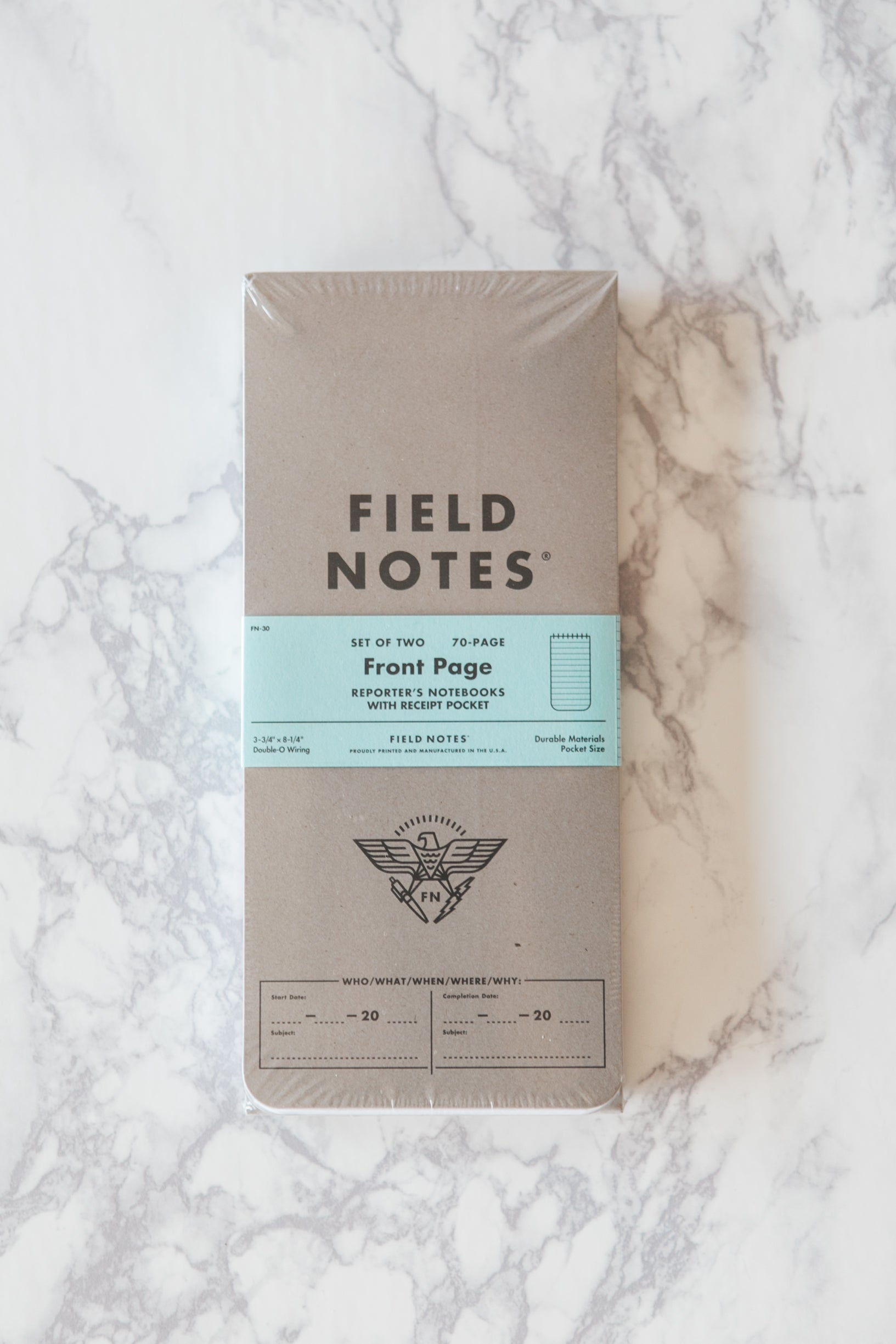 Front Page Reporter's Notebooks - Field Notes