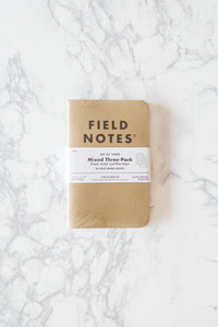 Mixed Three-Pack Memo Books - Field Notes