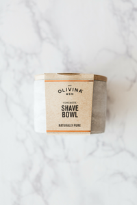 CONCRETE SHAVE BOWL