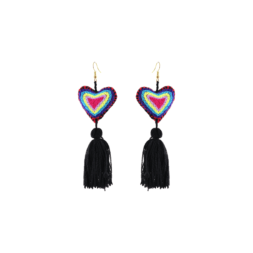 The Love-ly Earrings in Black Neon Pop- Large