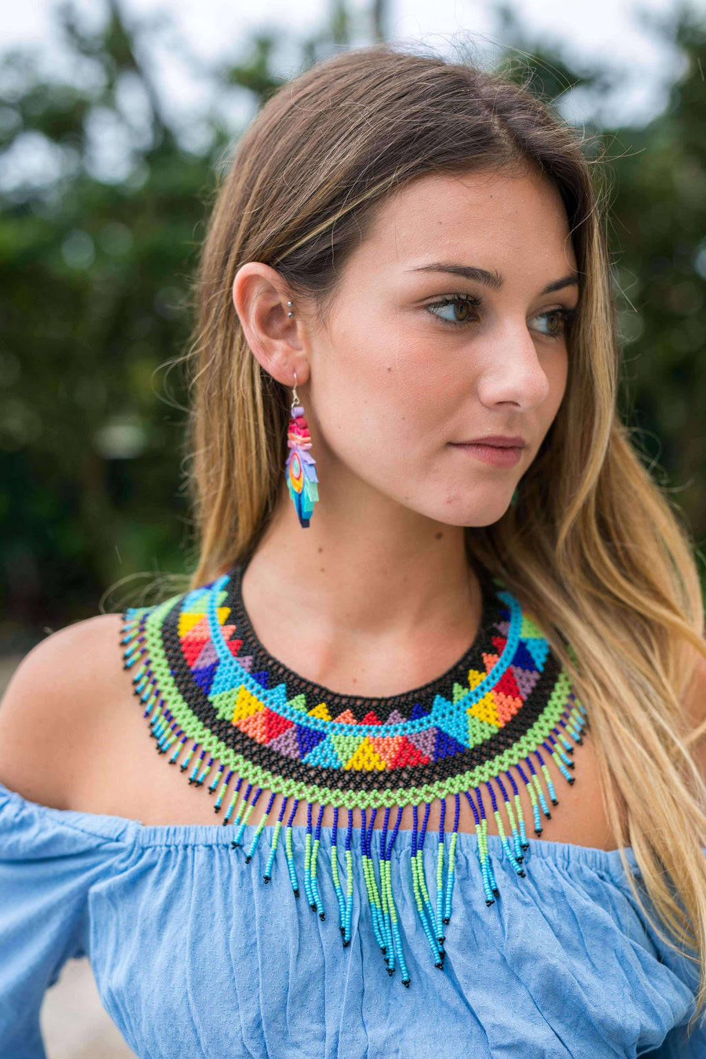 The Rainbow Collar Necklace #4 - Josephine Alexander Collective