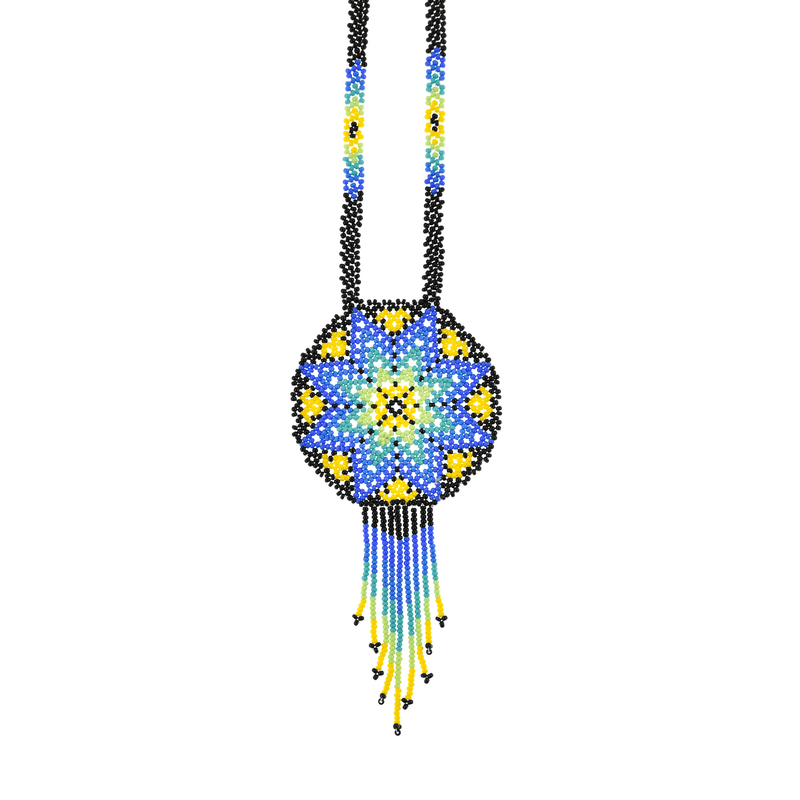 Beaded Estrella Necklace in Clear Skies - Josephine Alexander Collective
