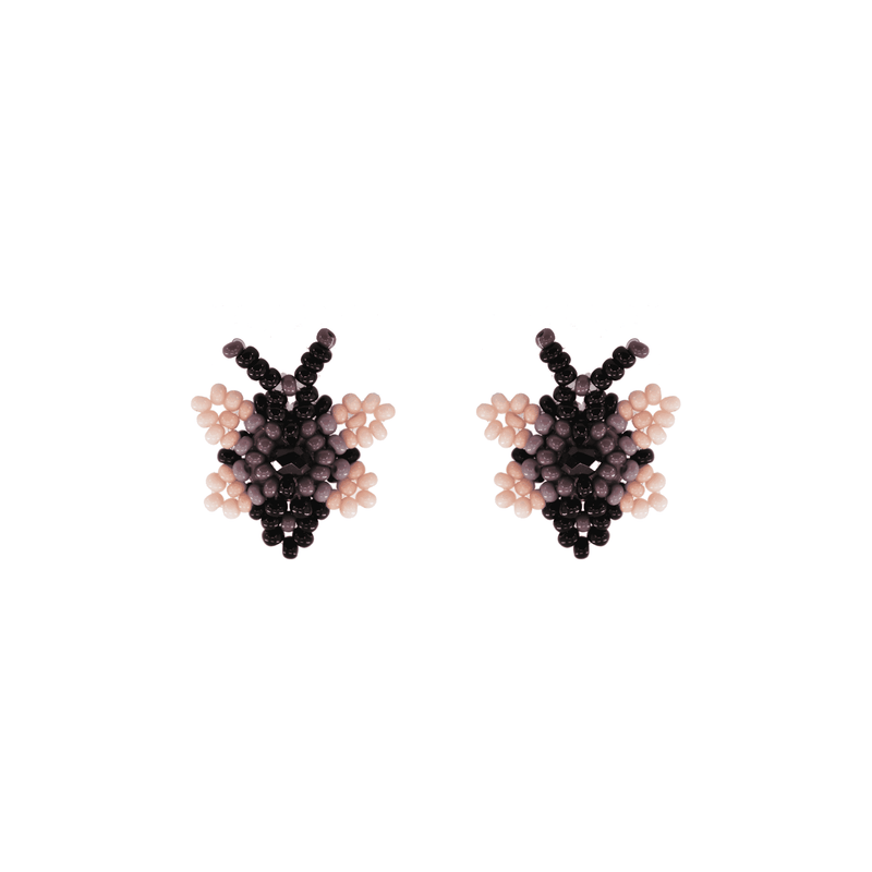 Butterfly Beaded Earring in Lilac - Josephine Alexander Collective