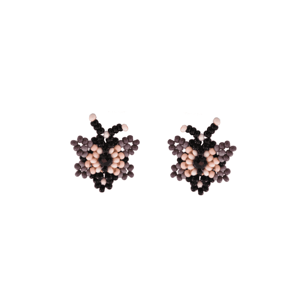 Butterfly Beaded Earring in Passionfruit