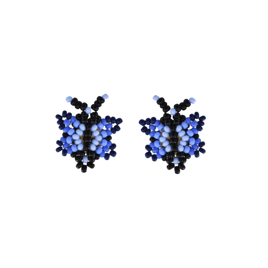 Butterfly Beaded Earring in Shades of Blue