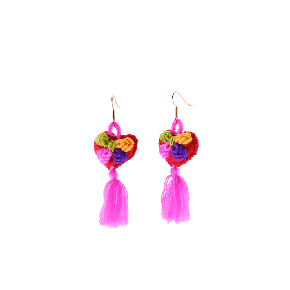 The Love-ly Earrings in Pink- Small - Josephine Alexander Collective