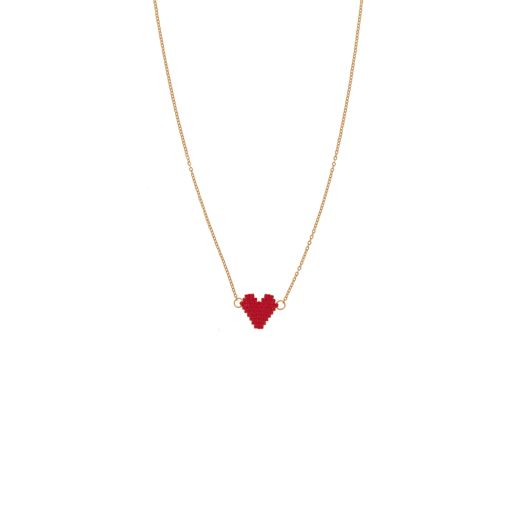 Spread the Love Necklace - Burgundy Heart - Josephine Alexander Collective