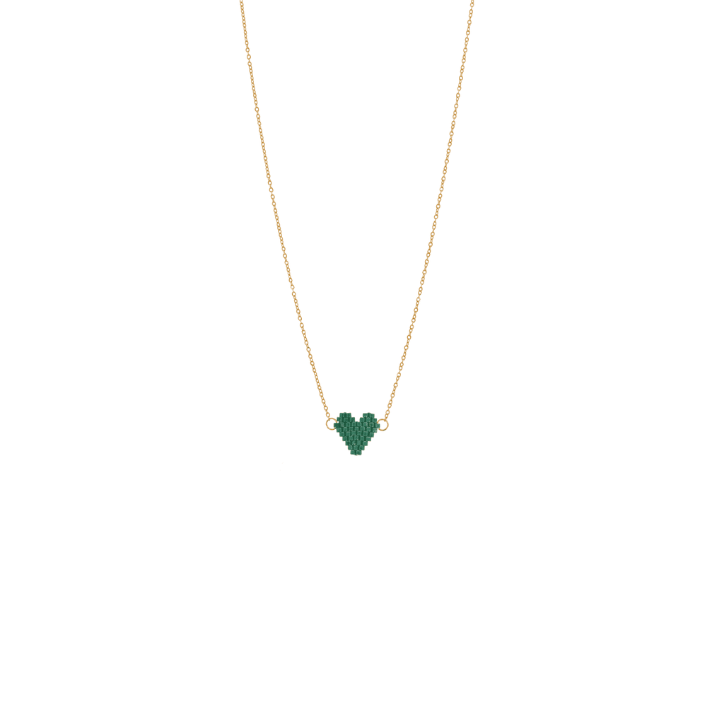 Spread the Love Necklace - Evergreen Heart - Josephine Alexander Collective