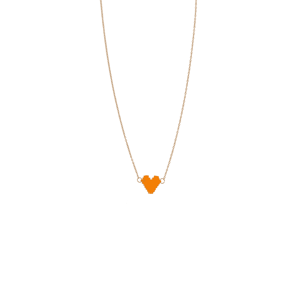 Spread the Love Necklace - Amber Heart - Josephine Alexander Collective