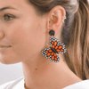 Quilled Butterfly Earrings in Orange - Josephine Alexander Collective