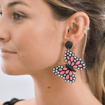 Quilled Butterfly Earrings in Pink - Josephine Alexander Collective