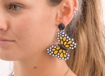 Quilled Butterfly Earrings in Yellow - Josephine Alexander Collective