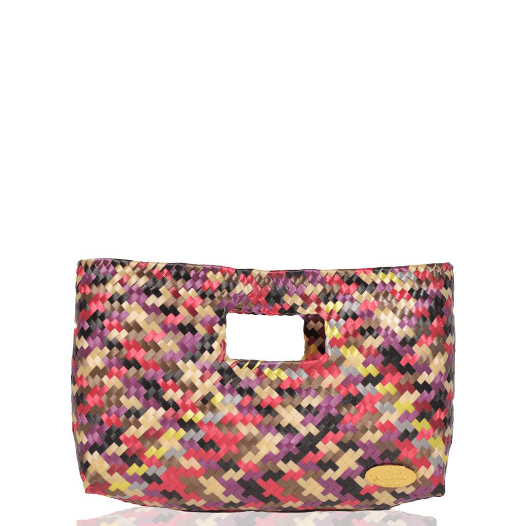 Alison Woven Clutch in Amethyst Rainbow - Josephine Alexander Collective