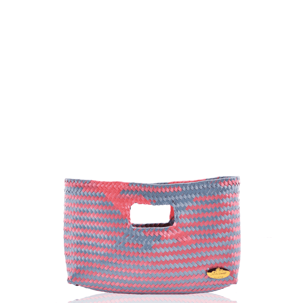 Alison Woven Clutch in  Pink and Blue