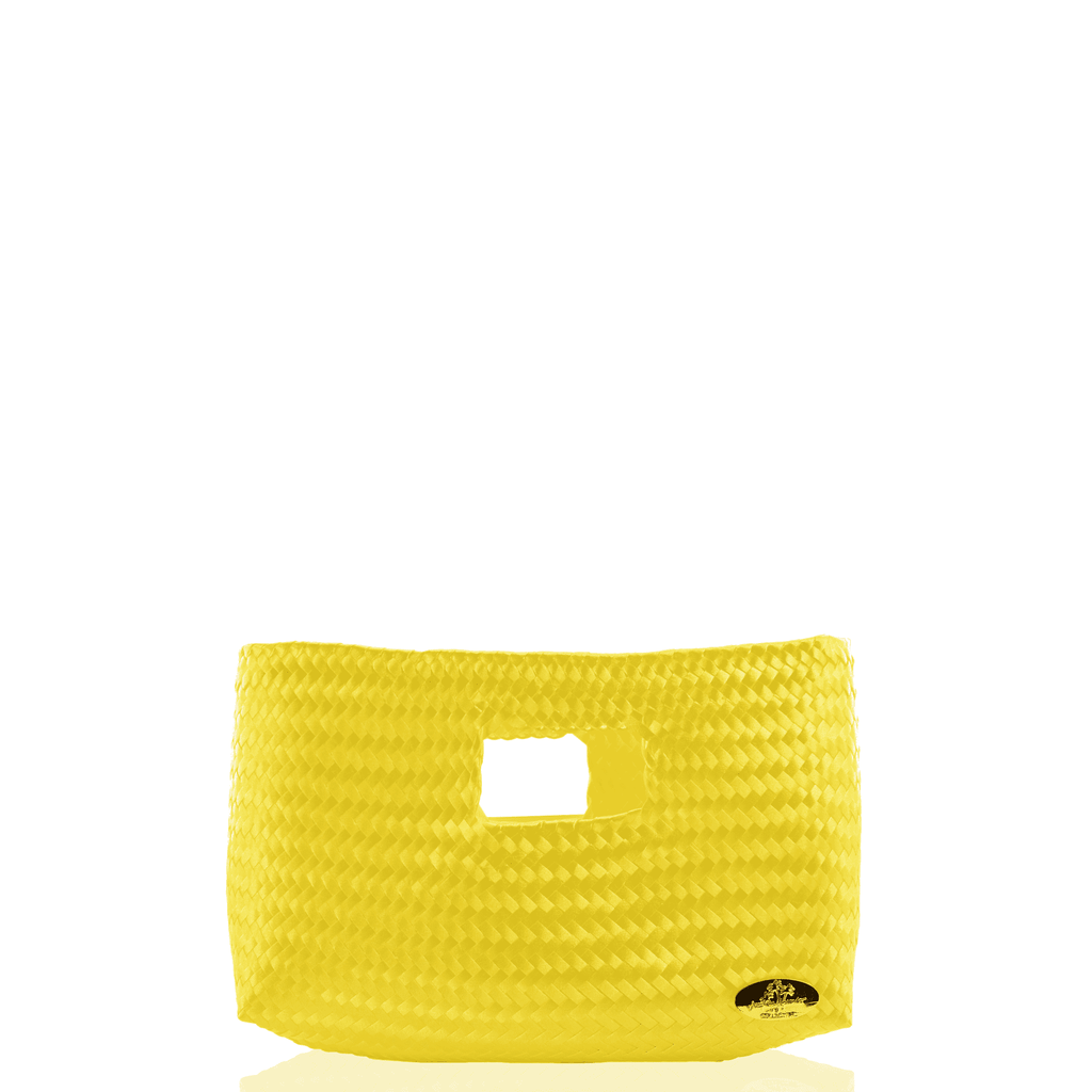 Alison Woven Clutch in  Yellow