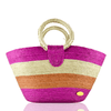 Alma Straw Bucket Bag in Pink - Josephine Alexander Collective