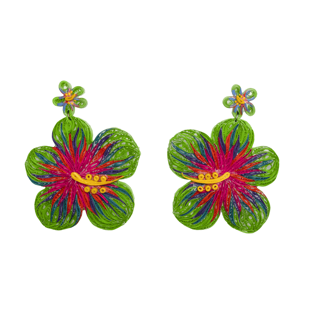 Aloha Earrings in Dragonfruit - Josephine Alexander Collective