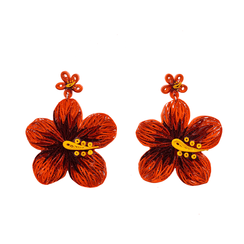 Aloha Earrings in Hot Lava