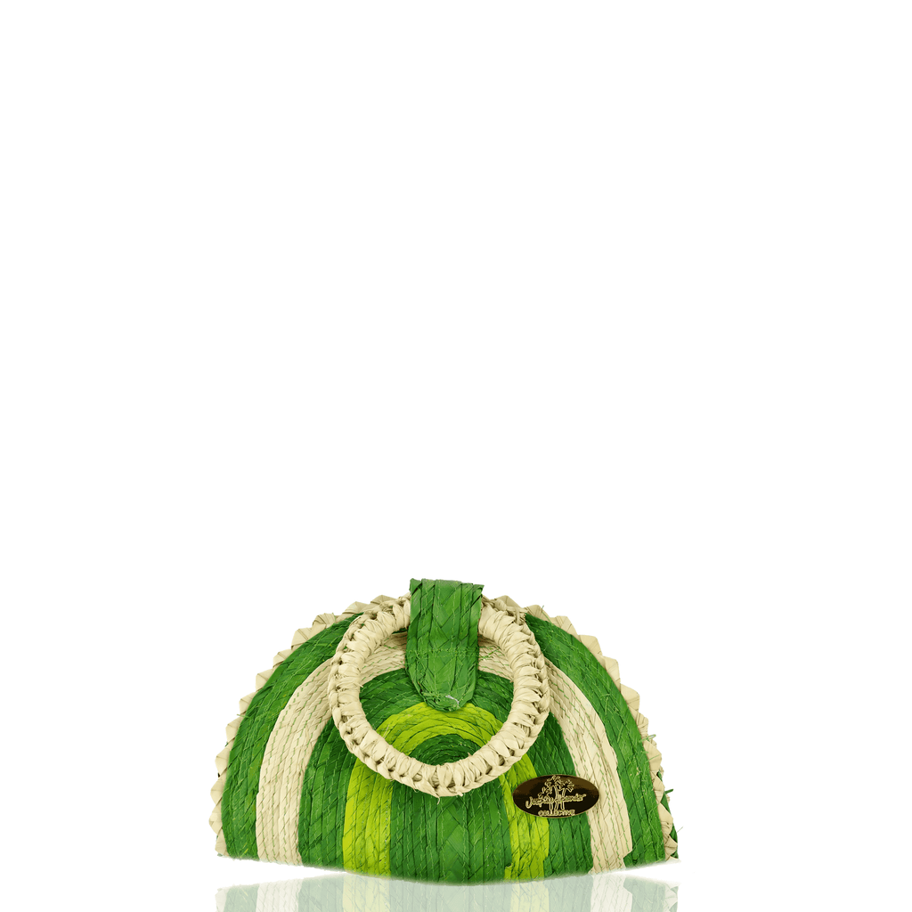 Amie Straw Bag in Lime - Josephine Alexander Collective
