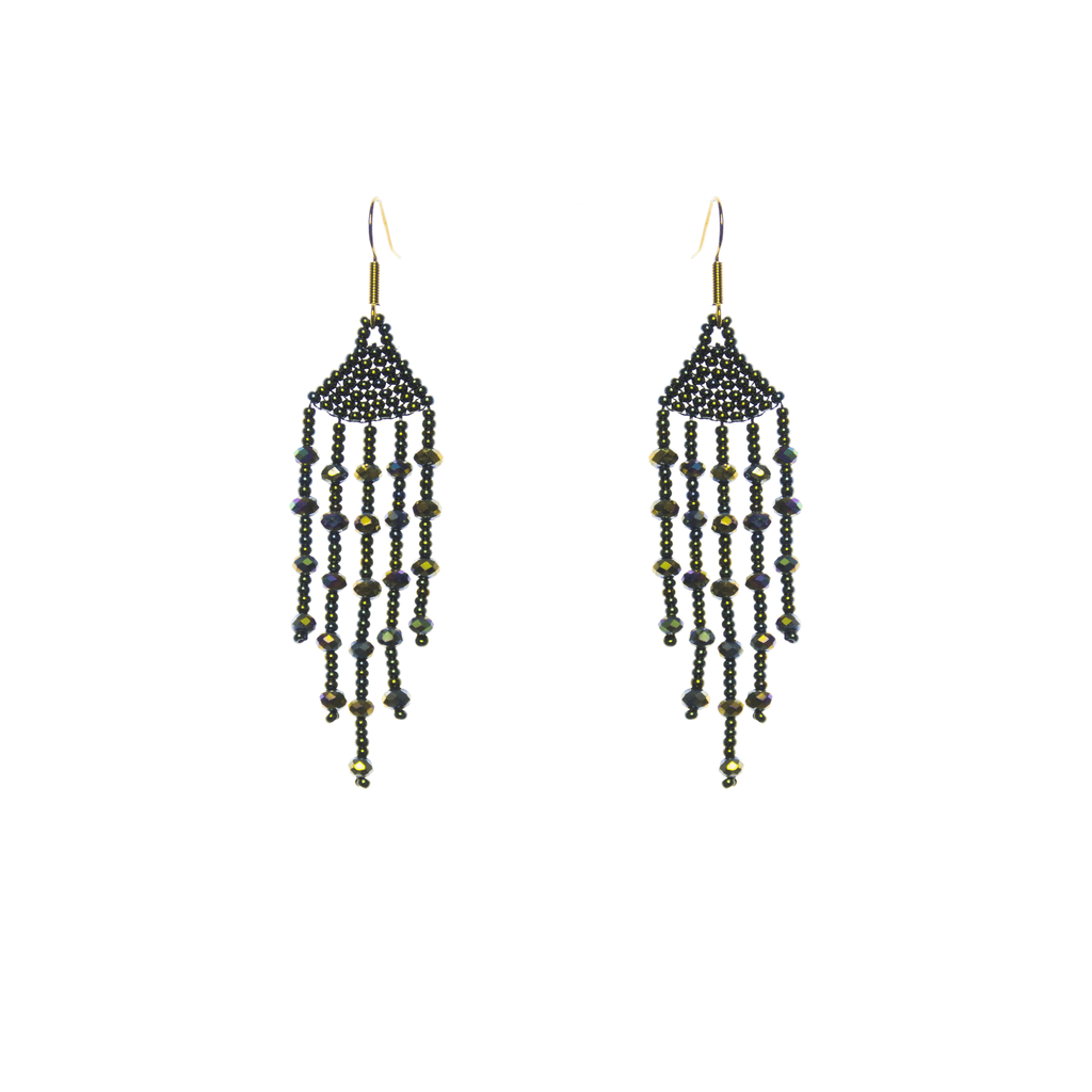 Arracada Earrings in Dark Green - Josephine Alexander Collective