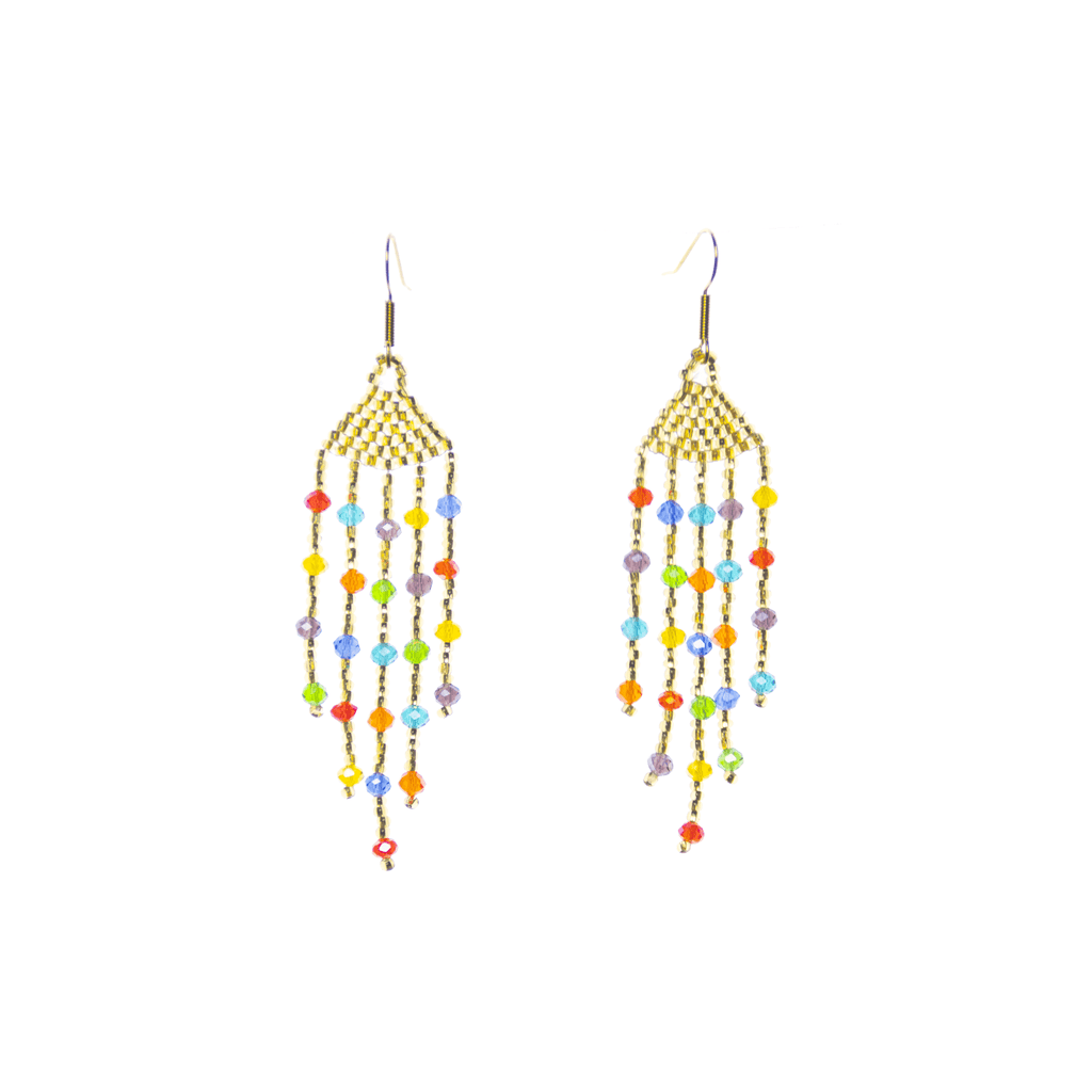 Arracada Earrings in Rainbow and Gold - Josephine Alexander Collective