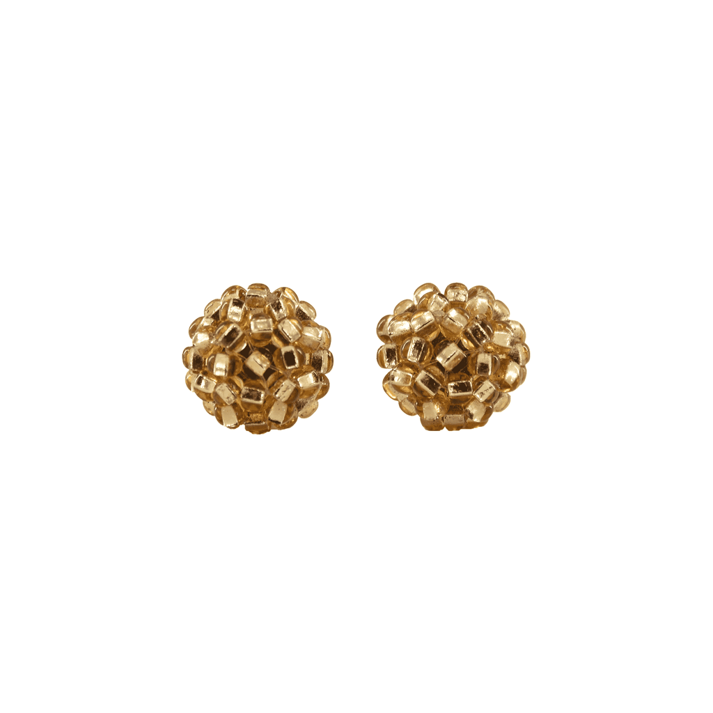 Ball Stud Earrings in Gold
