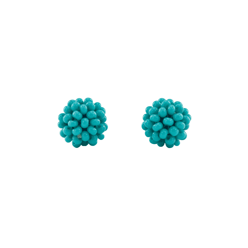 Ball Stud Earrings in Turquoise