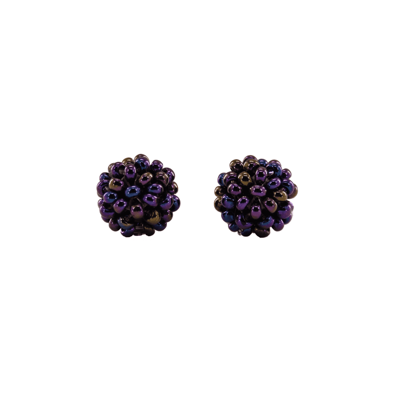 Ball Stud Earrings in Grape - Josephine Alexander Collective