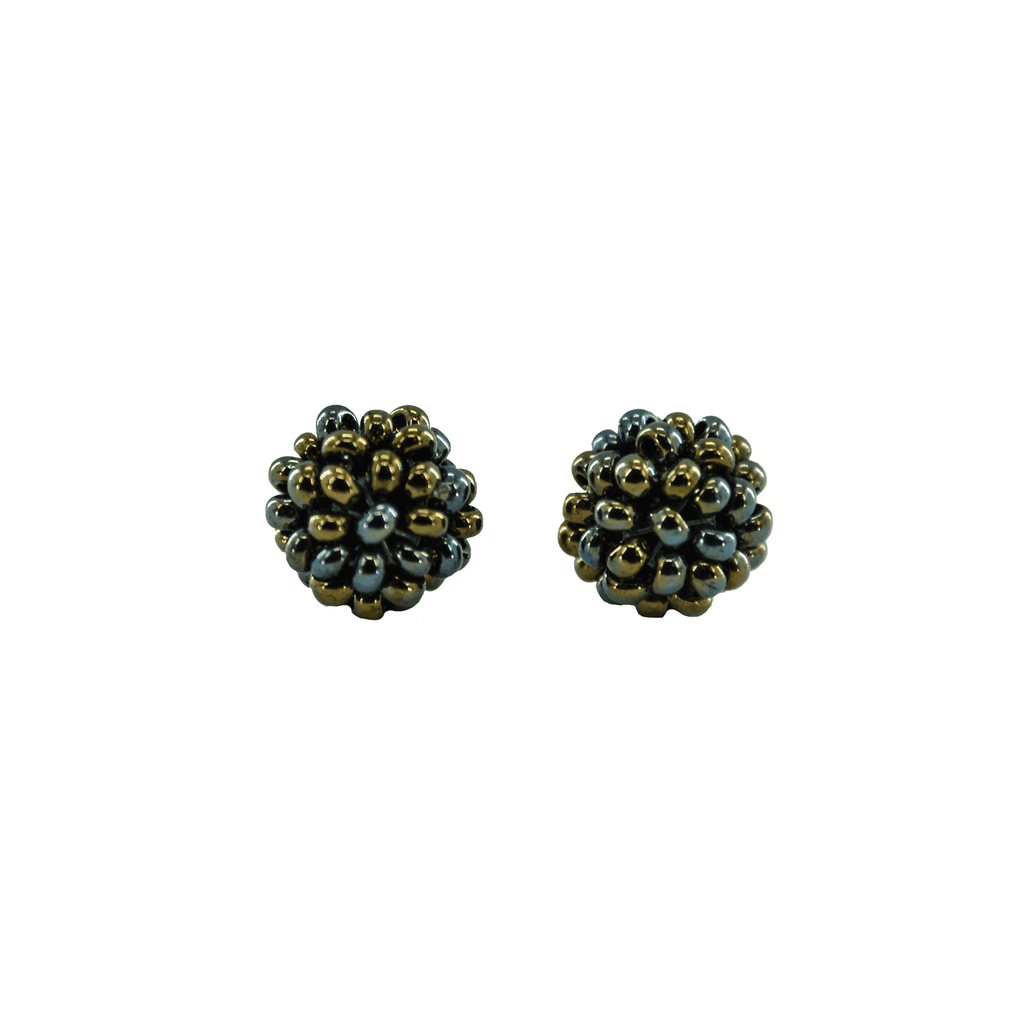 Ball Stud Earrings in Mermaid - Josephine Alexander Collective