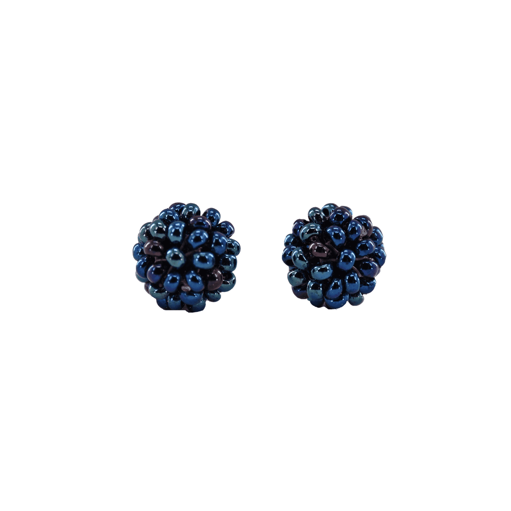 Ball Stud Earrings in Midnight Sky