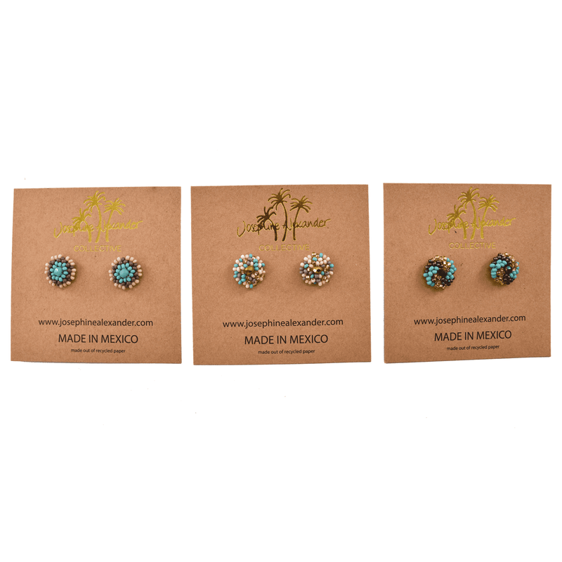 Beaded Stud Set #6 - Josephine Alexander Collective