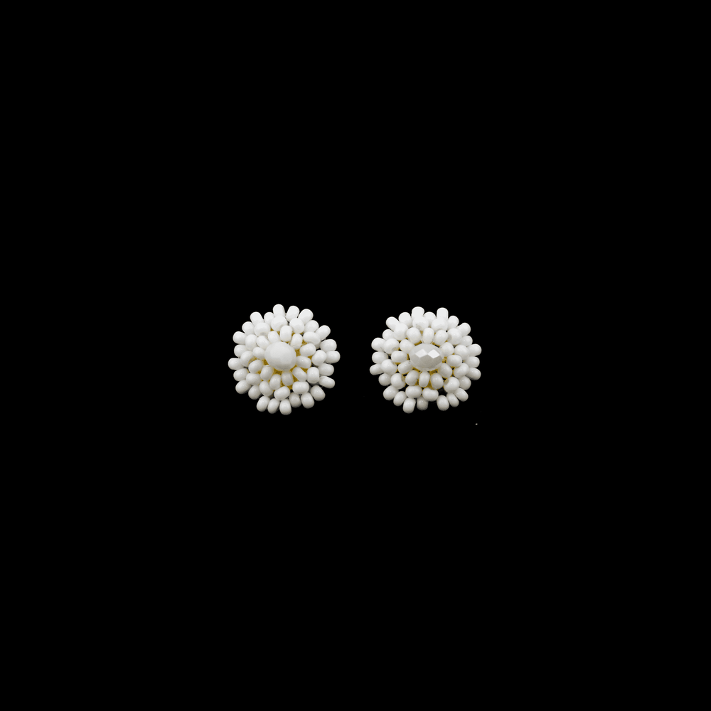 Beaded Studs in White