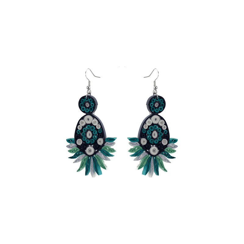 Beth Quilled Earrings in Ice - Josephine Alexander Collective