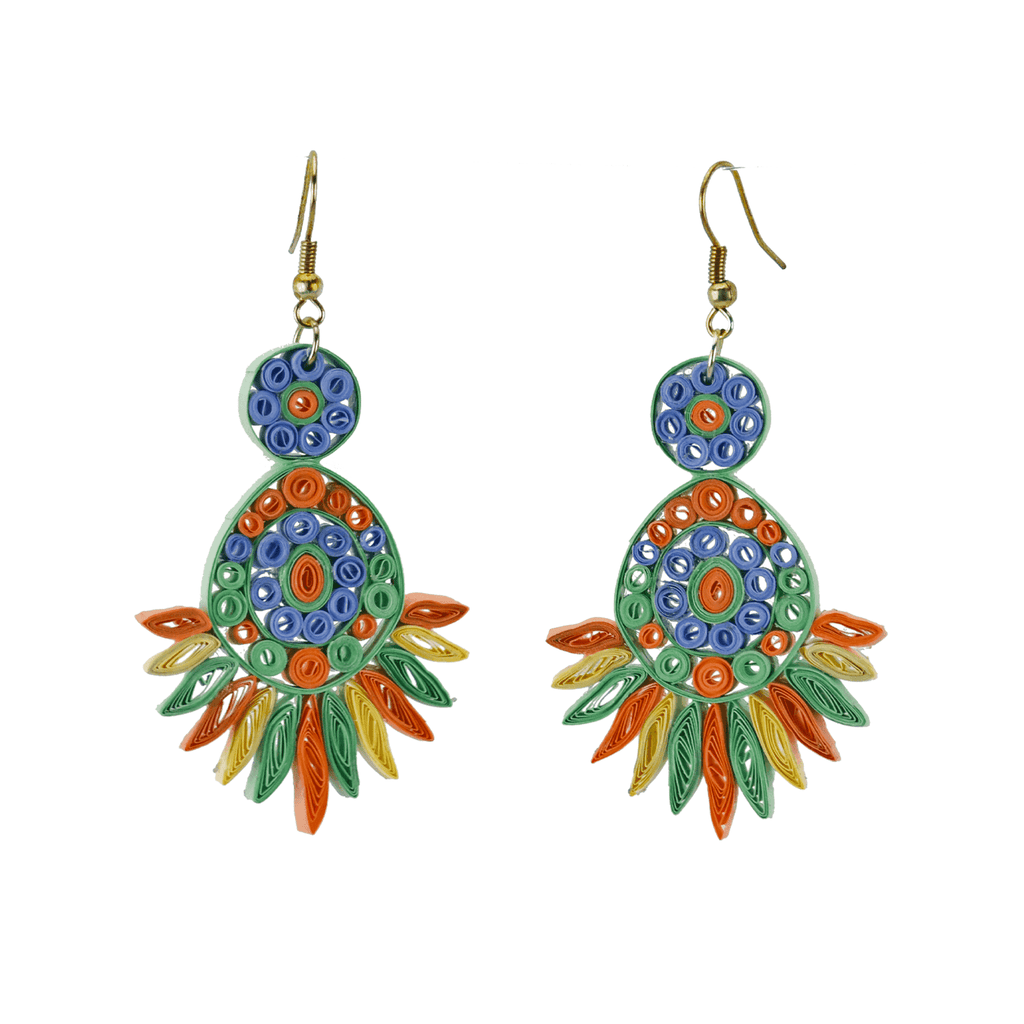 Beth Quilled Earrings in Spring Mint - Josephine Alexander Collective