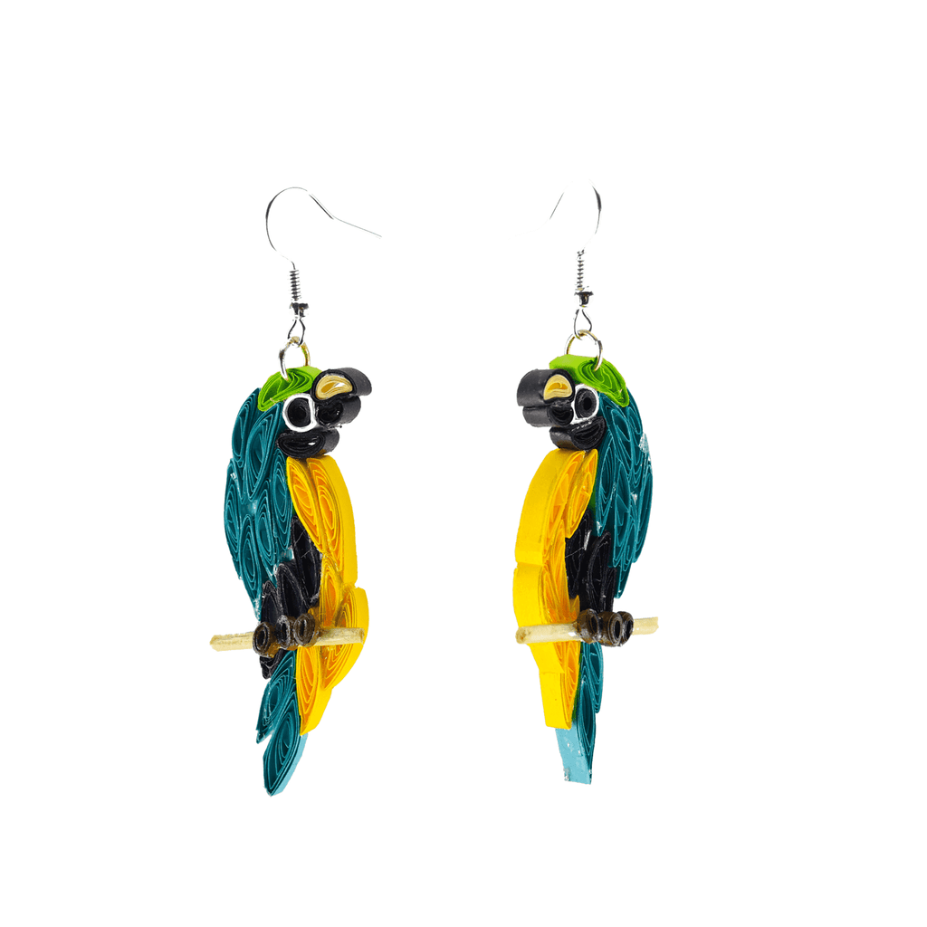 Birds of a Feather Earrings - Blue Macaw - Josephine Alexander Collective