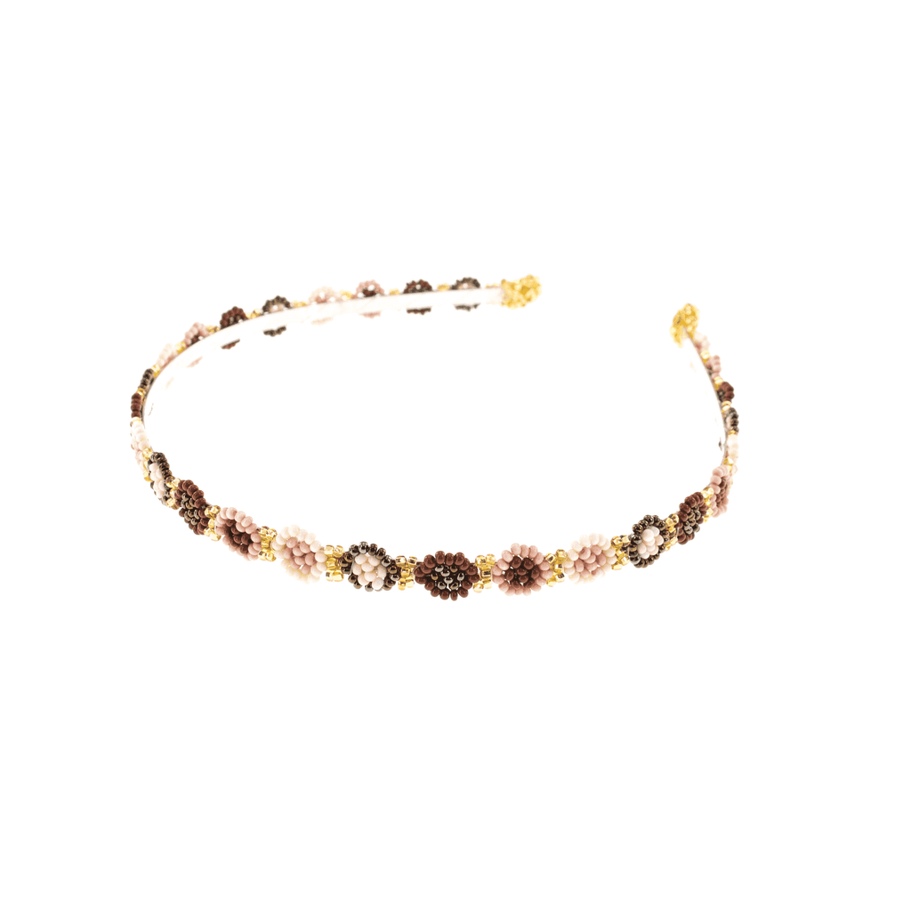 Blush Rose Beaded Headband - Josephine Alexander Collective