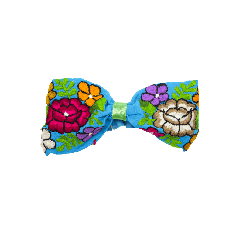 Bow Headband Blue Roses - Josephine Alexander Collective