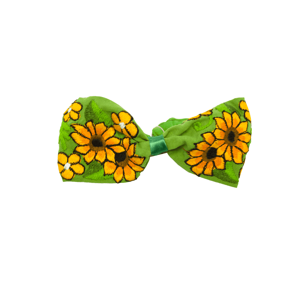 Bow Headband Green Sunflower - Josephine Alexander Collective