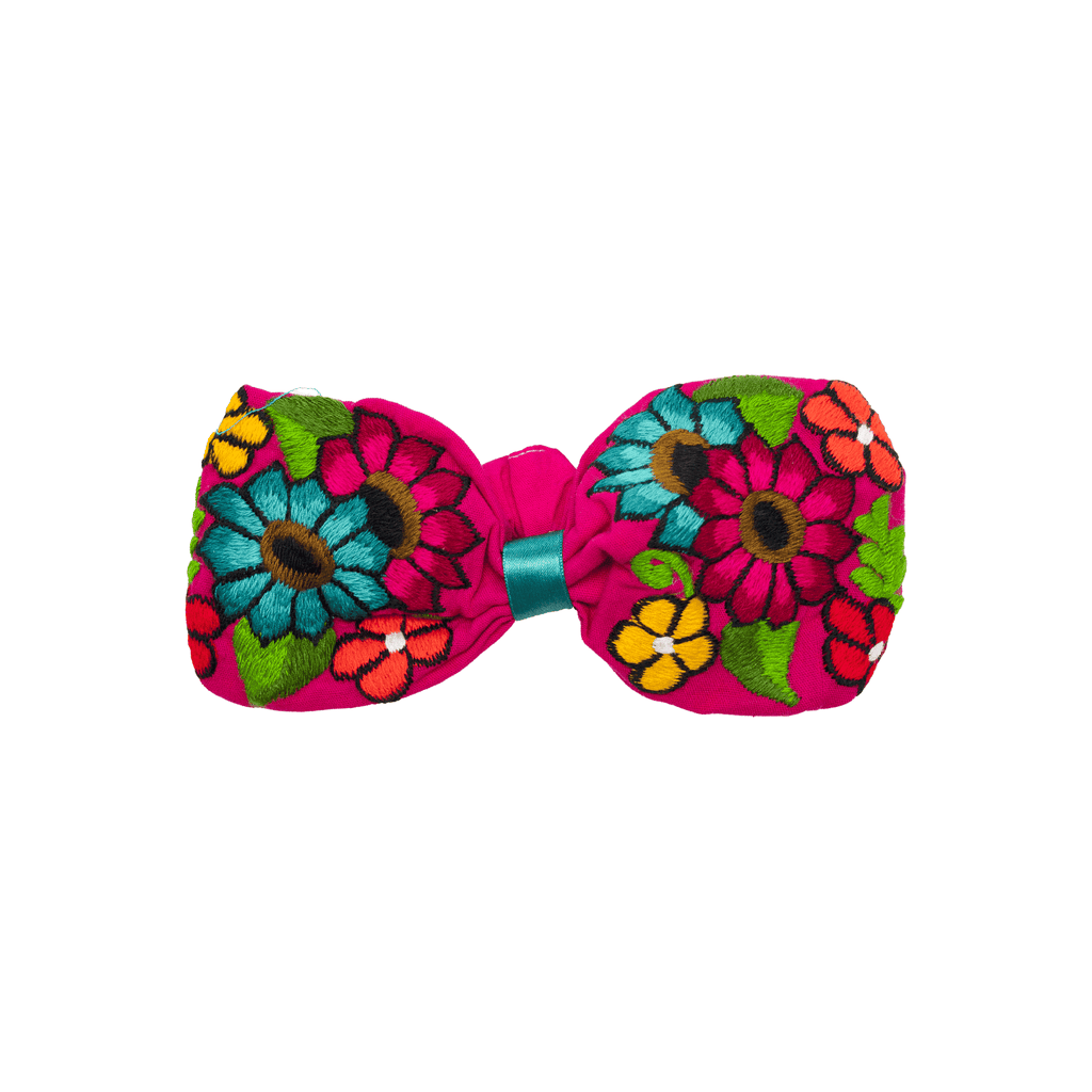Bow Headband Pink Flowers - Josephine Alexander Collective