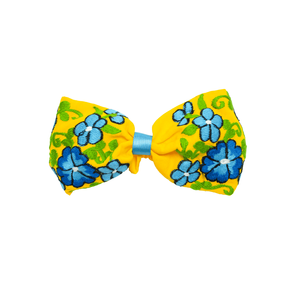 Bow Headband Yellow Flowers - Josephine Alexander Collective