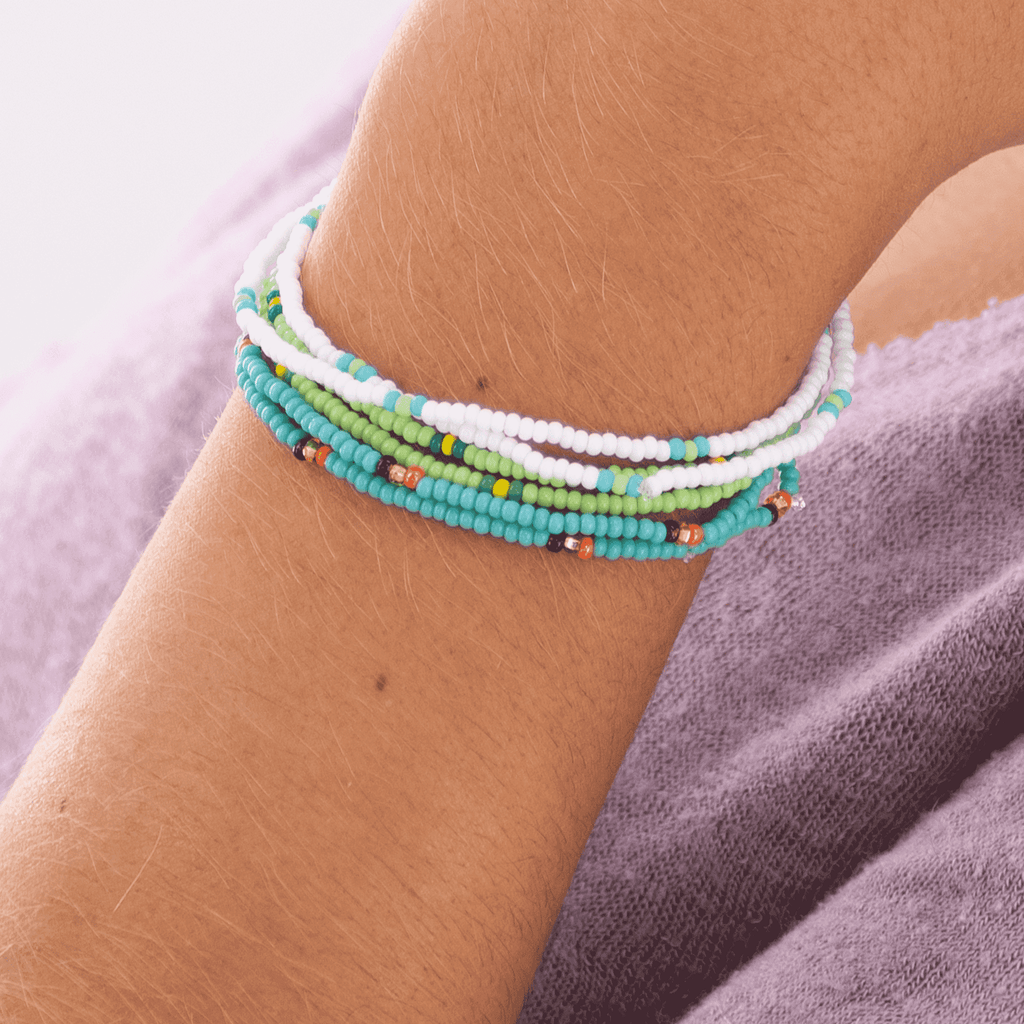 Land & Sea Beaded Bracelet Stack