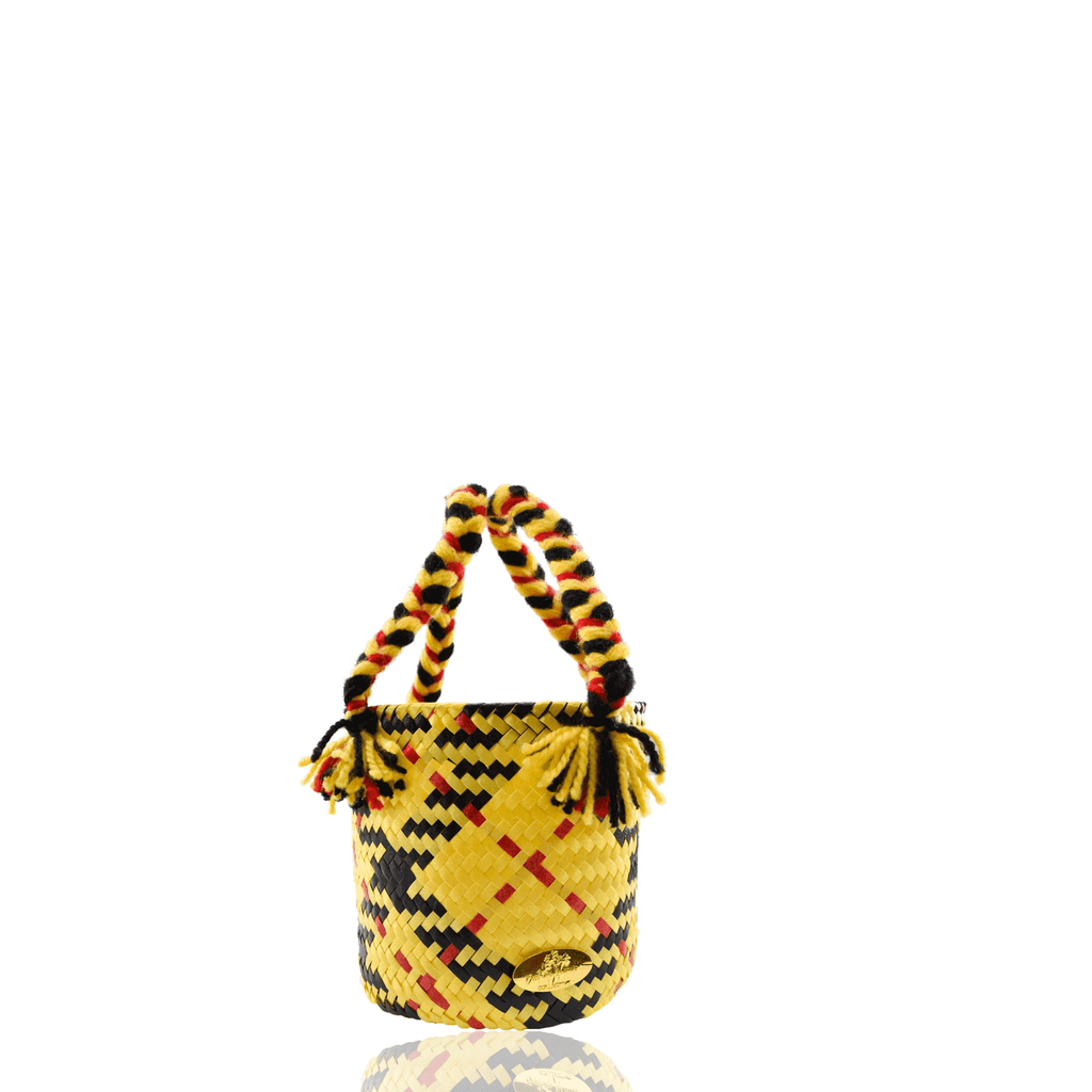 Mini Plaid Bucket Bag in Cher