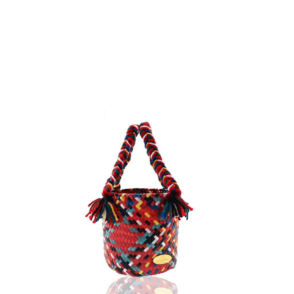 Mini Plaid Bucket Bag in Gwen